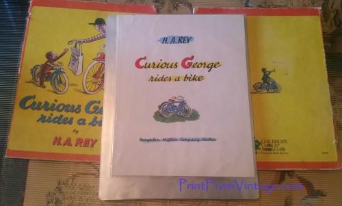 PrintFromVintageCuriousGeorgeLaminatedVintageBook14
