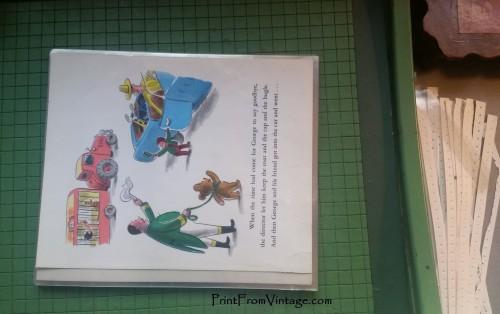 PrintFromVintageCuriousGeorgeLaminatedVintageBook18