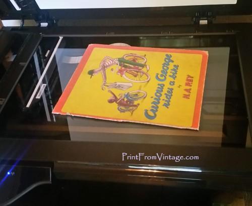 PrintFromVintageCuriousGeorgeLaminatedVintageBook19