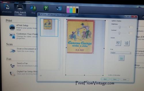 PrintFromVintageCuriousGeorgeLaminatedVintageBook20