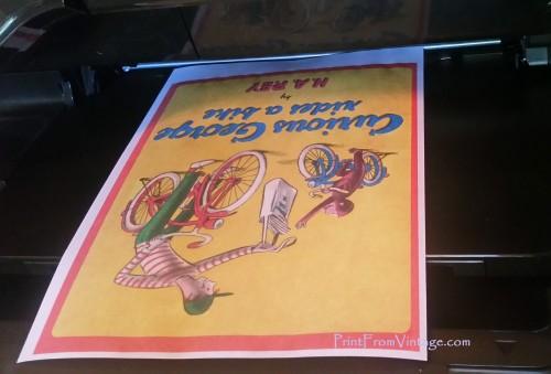 PrintFromVintageCuriousGeorgeLaminatedVintageBook21