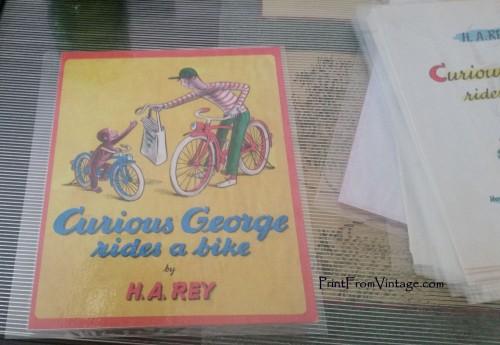 PrintFromVintageCuriousGeorgeLaminatedVintageBook22