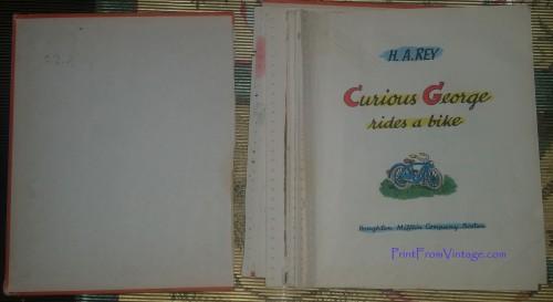 PrintFromVintageCuriousGeorgeLaminatedVintageBook3