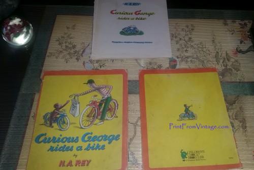 PrintFromVintageCuriousGeorgeLaminatedVintageBook5