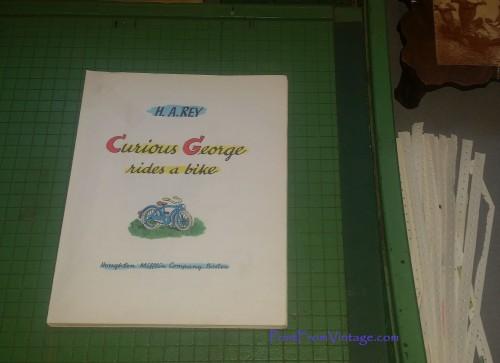PrintFromVintageCuriousGeorgeLaminatedVintageBook7