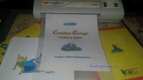 PrintFromVintageCuriousGeorgeLaminatedVintageBook9