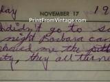Handwritten diary 60s