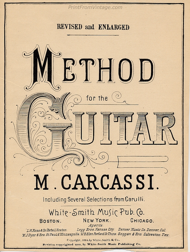 PrintFromVintageFirstPartMethodForTheGuitar